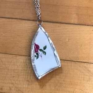 Jewelry - Hand crafted china pendent necklace.